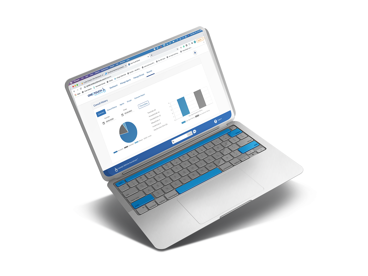 Video Banking Software Dashboard
